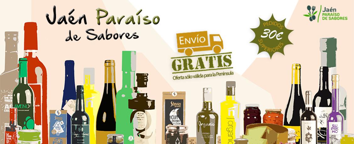 Envío gratis en Jaén Paraíso de Sabores por pedidos superiores a 30€